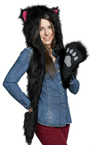 black-cat-full-hood-animal-hat-hoods-with-mittens-gloves-scarf-with-spirit-paws-ears