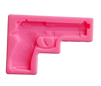 Yunko Gun Pistol 3D Soft Silicone Cake Decorating Fondant Sugar Craft Molds Candy Chocolate Mold