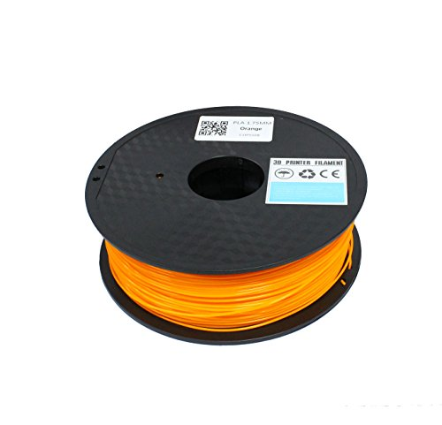 TRITECHNOX 1.75mm PLA 3D Printer Filament - 1kg Spool (2.2 lbs) - Dimensional Accuracy +/- 0.05mm (ORANGE)