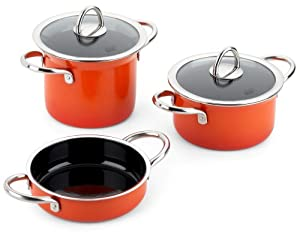 silit mini max 13172812 4 piece mini max cookware set wild orange kitchen home. Black Bedroom Furniture Sets. Home Design Ideas