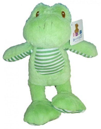 "13"" Plush Green Frog with Rattle"