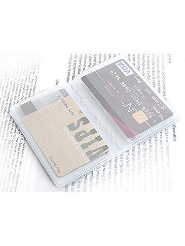 便利な20ポケット カードケース 名刺ケース カードホルダー 名刺入れ (クリア)
