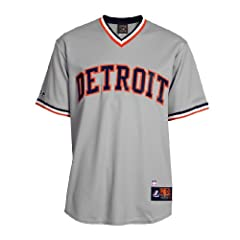 MLB Al Kaline #6 Tigers Cooperstown Replica Jersey by Majestic
