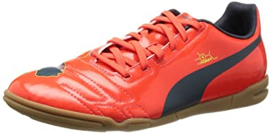 Puma evoPOWER 4 IT Jr 102966 Unisex-Kinder Fußballschuhe, Rot (fluro peach-ombre blue-fluro yellow 01), EU 28 (UK 10) (US 11)