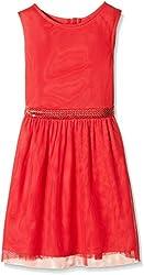 Nautica Kids Girls' Casual Dress (NBG0208Q600_Red_4 - 5 years)