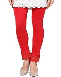 Castle Red Lace Leggings