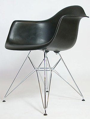 x4 Charles & Ray Eames Style DAR Eiffel Dining Lounge Chair (Black) by Tacorite Furniture
