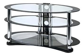 Zyon ellipse lcd et et plasma en verre meuble tv tv for Meuble tv ellipse 00381