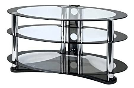 The Best  Zyon Ellipse LCD and Plasma Glass TV Stand w/ cable management