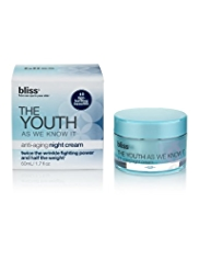 bliss® The Youth as We Know It™ Anti-Ageing Night Cream 50ml