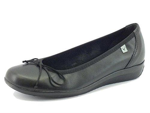 Ballerine Cinzia Soft per donna in pelle nera (Taglia 36)