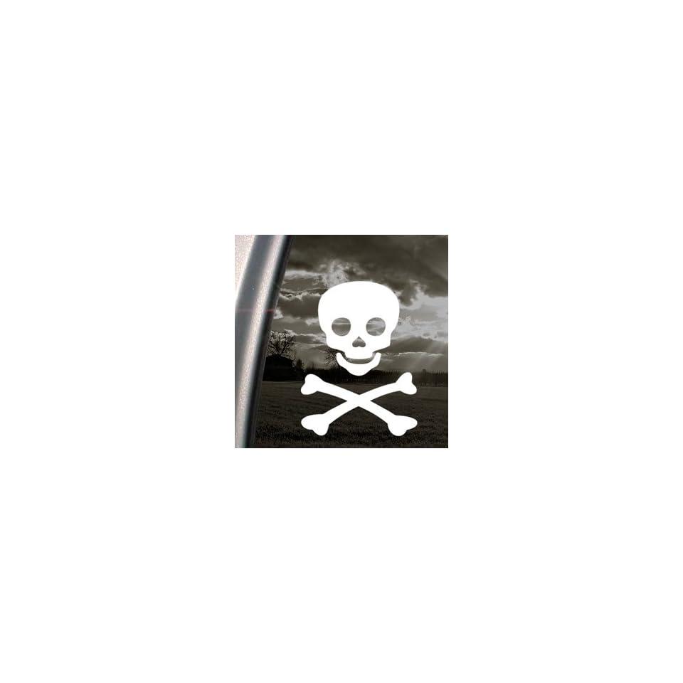 Jolly Roger Pirate Emblem Decal Truck Window Sticker