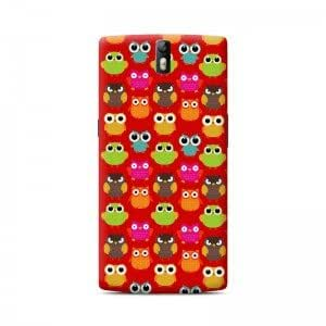 Owls in red case for one plus one