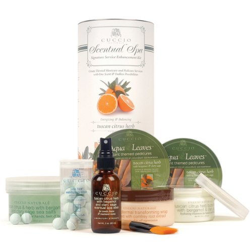 CUCCIO NATURALE Tuscan Citrus Herb Scentual Spa Signature Service Enhancement Kit