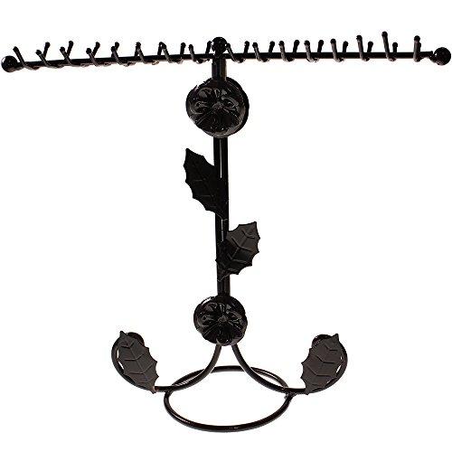 Wonderful Black Jewellery T-Bar Necklace Bracelet Stand Holder Display By Kurtzy Tm front-363259