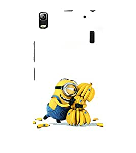 printtech Yellow Funny Chiquita Banana Cartoon Back Case Cover for Lenovo A7000