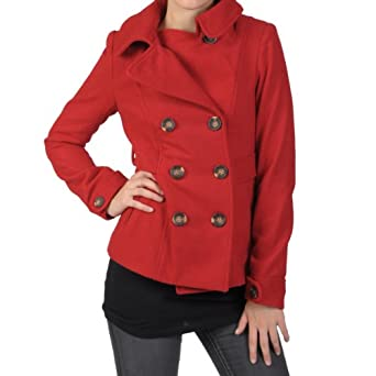 Hailey Jeans Co Juniors Double Breasted Wool Peacoat