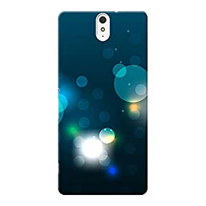 INKIF Circles Abstarct Designer Case Printed Mobile Back Cover for Sony Xperia C5 Ultra Dual (Blue )
