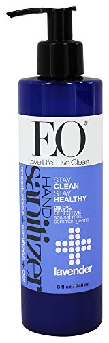 EO Hand Sanitizing Gel, Lavender Essential Oil, 8 oz
