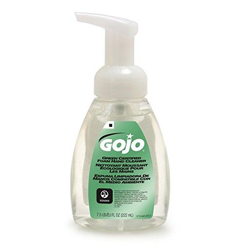 gojo-571506ct-green-certified-foam-soap-fragrance-free-clear-75-oz-pump-bottle-pack-of-6