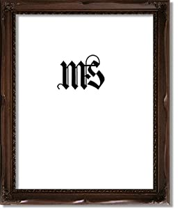 Imperial Frames 11 by 14-Inch/14 by 11-Inch Picture/Photo Frame, Dark Walnut Curved Molding with Modest Floral Designs