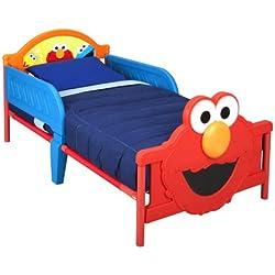 Delta Children 3D-Footboard Toddler Bed, Sesame Street