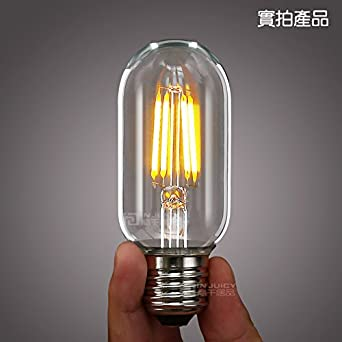 Injuicy Lighting 4w Long Lasting Industrial Vintage T45 Edison Led Bulb E27 360 Degree Warm