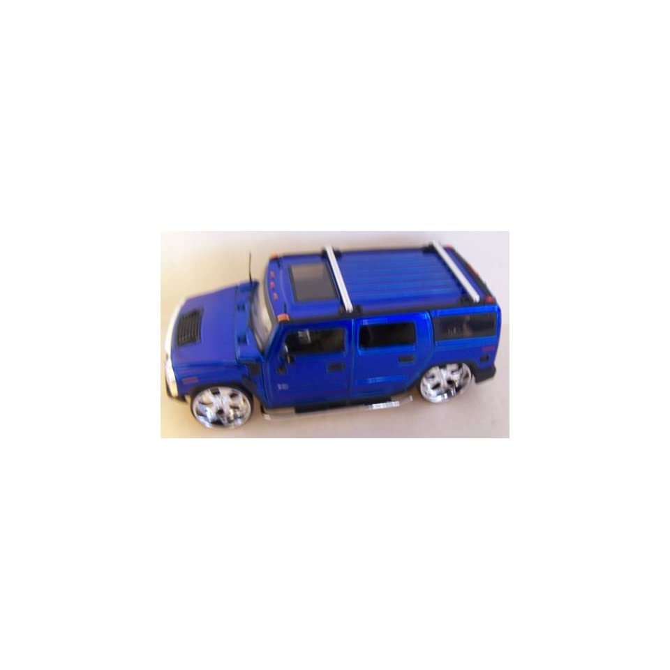 Jada Toys 1/24 Scale Diecast Big Time Kustoms Hummer H2 in Color Blue