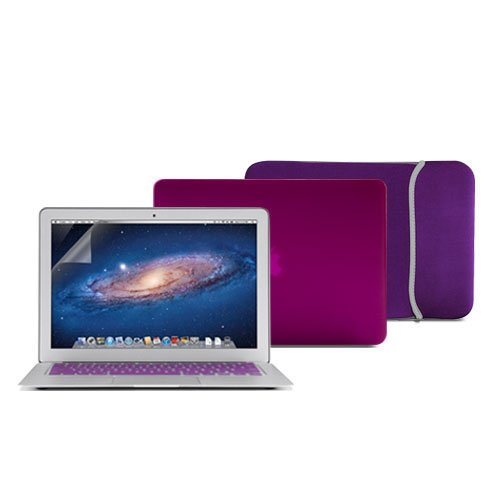 Sleeve Bag Purple For Macbook Pro 13 Air 11 Retina 15 Rubberized Case Cover