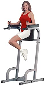 Body Solid Commercial Rated Vertical Knee Raise and Dip Station Power Tower GVKR60