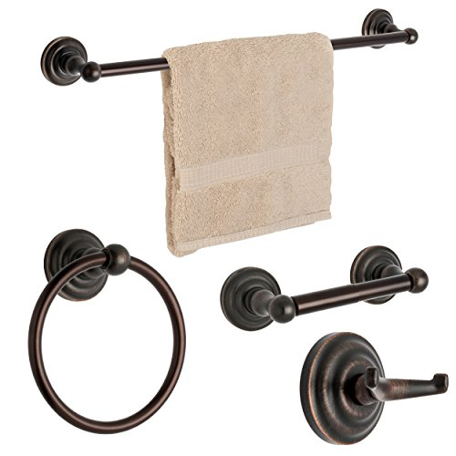 palisades series bathroom hardware set oil rubbed bronze 4 piece set