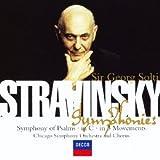 ストラヴィンスキー:3楽章の交響曲、ハ調の交響曲、詩篇交響曲