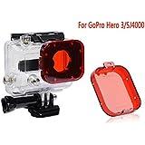 Gopro Hero 3/SJ4000 Red Lens Filters Professional Gopro Lens Filter Accessory Set For Gopro Hero 3/SJ4000 Standard...