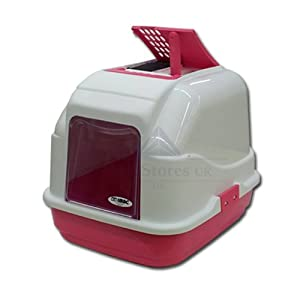 Imac Easy Cat Pinky Peach Hooded Cat Litter Tray With