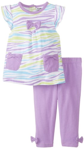 Peanut Buttons Baby-Girls Newborn Girl Legging Zebra Print Set, Purple, 3-6 Months front-106123