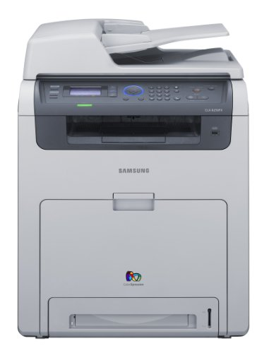 Samsung CLX 6250FX - Multifunction ( fax / copier / printer / scanner ) - colour - laser - copying (up to): 25 ppm (mono) / 25 ppm (colour) - printing (up to): 25 ppm (mono) / 25 ppm (colour) - 350 sheets - 33.6 Kbps - Hi-Speed USB, 10/100 Base-TX, USB host