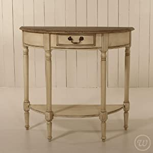Vintage Style Painted Half Moon Table Ideal For Hallways