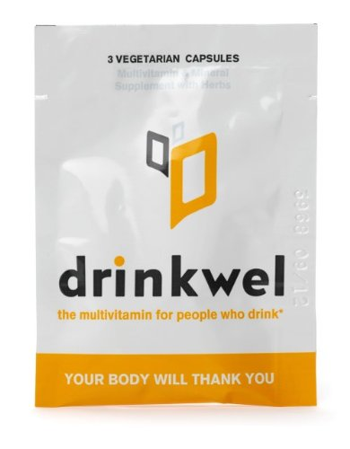 Drinkwel for Hangovers, Nutrient Replenishment & Liver Support (10 To Go Packets with with Organic Milk Thistle, N-acetyl Cysteine, Alpha Lipoic Acid, and DHM)