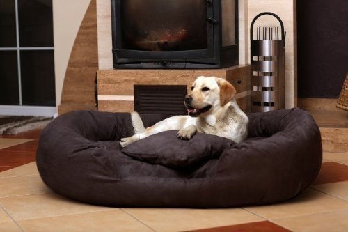 Ph5-AA-01 PHILIP Canapé pour chien Dog Bed Gr. XXL 140 velours brun
