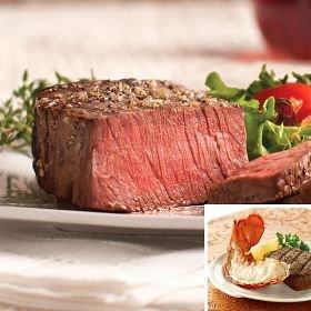 Omaha Steaks Top Sirloin & Maine Lobster Duo