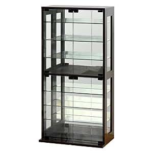 コレクションケース ダークブラウン 幅60cm  [ガラスキャビネット コレクションラック ディスプレイケース ] 027051