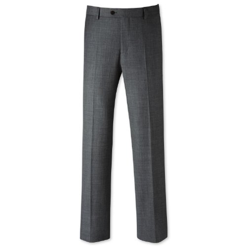 Charles Tyrwhitt Grey sharkskin tailored fit suit trouser (42W x 34L)