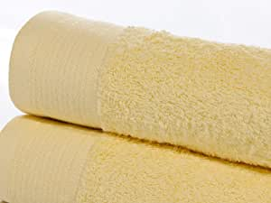 100% Egyptian Cotton 600 GSM Bath Sheet In Yellow