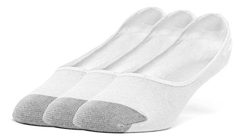 Galiva (ガリヴァ) メンズ 綿 軽量 カバーソックス - 3足、S、ホワイト