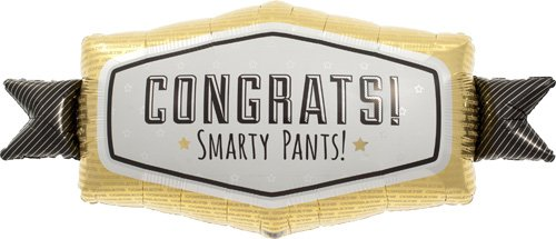 Congrats Smarty Pants Helium Foil Balloon - 33 inch