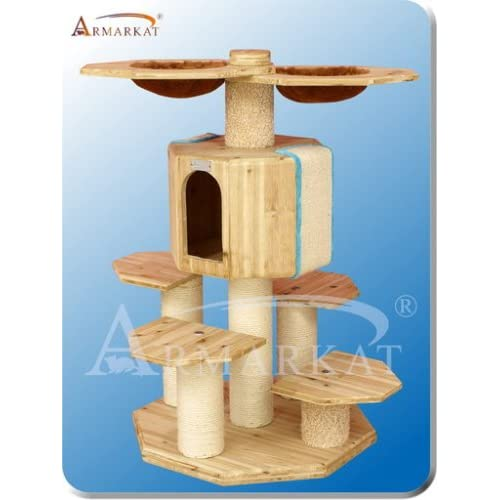 Armarkat Solid Wood Cat Tree Condo Cat Furniture X4303 Pet Supplies