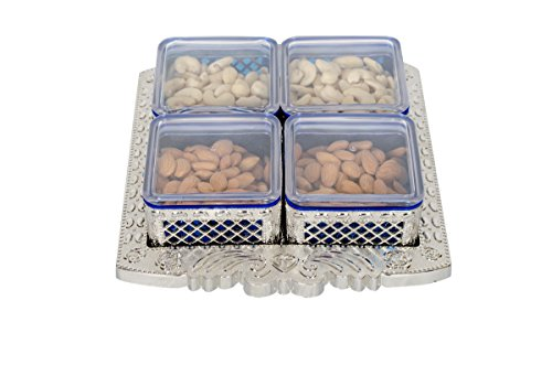 Black Butterfly DryFruits Box | Snacks Serving Tray | DryFruit Gift Box | Dry Fruit Tray | Serving Tray