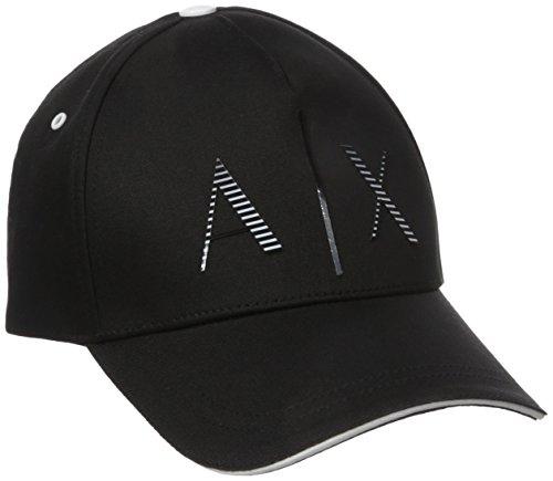 Armani Exchange Men's Graphic Gloss Hat, Black/White, One Size (Armani Cap compare prices)