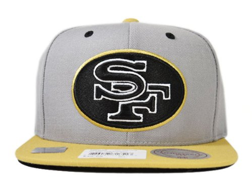 San Francisco 49ers GREY 2Tone ARCH TURNOVER VELCRO STRAPBACK Mitchell & Ness Adjustable NFL Hat at Amazon.com