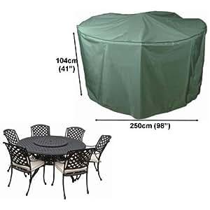 Housse pour salon de jardin rond 250cm gamme confort for Housse pour tabouret rond
